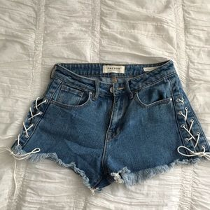 Pacsun Jean Tie Up Shorts